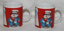 HERSHEY'S Red Mug Cup S'mores Recipe Cocoa Snowman Coffee Tea Set 2 X