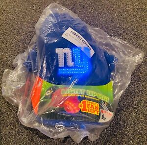 NEW Vintage New York Giants NY NFL Fiber Optic Light Up Blockhead Snapback Hat