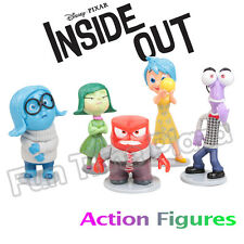 5Pcs Inside Out Joy Sadness Anger Character Toys Doll Cake Topper Action Figures