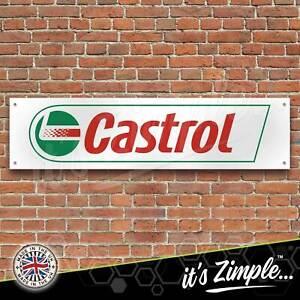 Castrol Motor Oil logo Banner Garage Workshop Sign Printed PVC Trackside Display