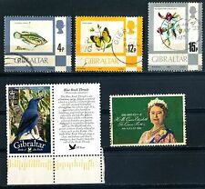 QE II five stamps 1977 to 2008 used