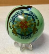 """NAVY MARBLE SUBMARINE GROUP 8 COLLECTORS JUMBO 2""""  SZ ORNAMENTAL COLLECTIBLE"""