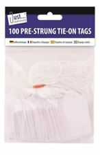 White Tags Pack of 100 Pre Strung 36 x 53mm Tie On String Jewellery Gift Labels