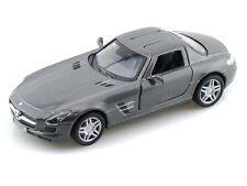 KINSMART 1:36 DISPLAY 2011 MERCEDES-BENZ SLS AMG Diecast Car Gray Color KT5349D