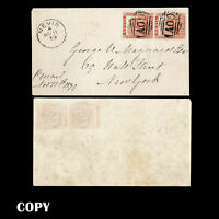 NEVIS, 1878, 1p Vermilion  ,cancels on petite 1879 cover to New York, Nevis COPY