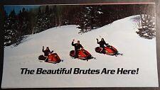 """VINTAGE ALOUETTE BRUTE SNOWMOBILE SALES BROCHURE NICE  9"""" X 5""""   (842)"""