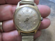 ZODIAC WIND INDICATOR MEN AUTOMATIC GOLD TOP STAINLESS BACK Running WRIST Watch