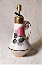 Vintage Bavarian Floral Porcelain Perfume Pump Spray Atomizer NOS Germany