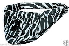 BARBIERE Forbici Fondina Sacchetto. STYLIST tools belt. Bianco Motivo a Zebra