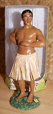 """Hawaiian Dashboard Hula Boy 7"""" Doll Dance Pose Hawaii Luau Wiggle Warrior NIB"""