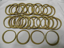 30 Scrap Tan Leather Rings Circles Pieces Patches For Leather Crafts Crafting