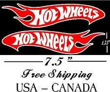 2 (Left Right) hot wheels R&W logo Bumber sticker Laptop cars trucks boats wall