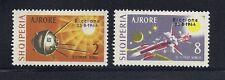 ALBANIA 1964 International Space Exh. RICCIONE overprint set of 2 VF MH