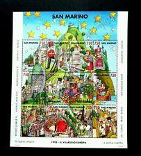 San Marino Europe Village 1993 Cartoon Animation Car Bridge Star (sheetlet) MNH