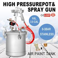 2.5 Gallon High Pressure Pot Paint Sprayer Commercial with Spray Gun Lacquer