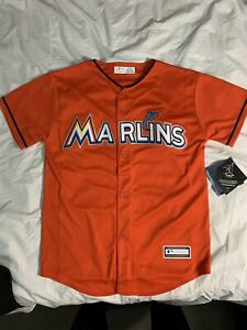 New Youth MARLINS Giancarlo Stanton Cool Base Team Jersey Size M(10-12) MSRP $60