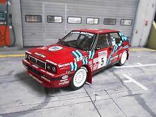 Lancia Delta HF 16v rally de san remo #5 auriol 1991 red Martini Ixo triple 9 1:18