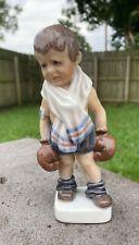 Vintage Royal Copenhagen Dahl Jensen Boxer Boxing Little Boy Figurine