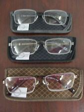 Design Optics By Foster Grant Semi-rimless Metal Reading Glasses, 3-pack +1.50