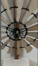 """The Windmill Fan In Noir & Cage Light Kit� 72"" Windmill Indoor Fan"