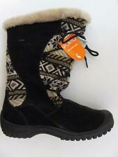 SPORTO~Kayla~Suede & Sweater Knit Insulated Lace-Up Boots~10M~Chocolate Brown