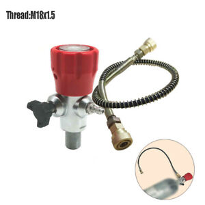 4500Psi SCBA Valve Fill Station&Hose Combo For PCP Air Tank Thread M18x1.5