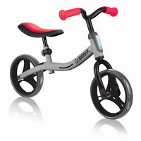 Globber GO BIKE Adjustable Balance Training Bike for Toddlers, Silver and Red