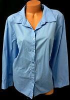 Roaman's blue long sleeves women's plus size buttoned down top 22W