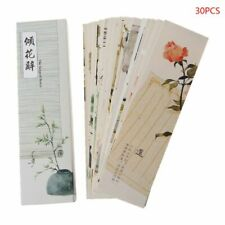 30pcs Creative Chinese Style Paper Painting Bookmarks Retro Cards Boxed Bookmark