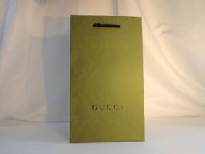 """GUCCI Green Limited Edition Shopping Gift Bag Tote NEW 11.41"""" X 6.7"""""""