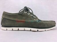 Timberland Men's 4 eye Tidelands Moccasins Casual Green Suede Boat Shoes A1GTU