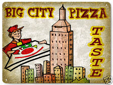 Pizza parlor metal sign city restaurant diner deli vintage style wall decor 071