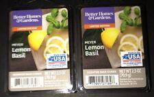 Better Homes & Gardens MEYER LEMON BASIL Wax Cubes 2 Packs