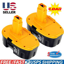 2 New 18V 18 Volt 4000mAh for Dewalt XRP Battery DC9096-2 DC9098 DC9099 DW9096