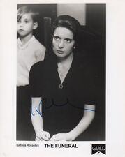 "Isabella Rossellini ""The Funeral"" Autogramm signed 20x25 cm Bild s/w"