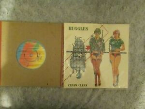"""The Buggles - 2, 7"""" Singles, The Plastic Age, Clean Clean.  Mint"""