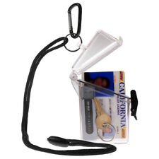 WITZ See it Safe Clear Waterproof ID Badge / Card Holder Case w/ Lanyard & Clip