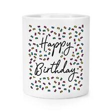 Happy Birthday Confetti Makeup Brush Pencil Pot - Funny 18th 21st 30th 40th 50th