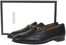 NEW GUCCI MEN'S BLACK LEATHER HORSEBIT DETAIL LOAFERS DRESS SHOES 39.5