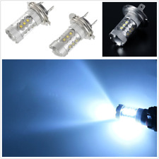 2pcs DC 12V 8000K Ice Blue 80W Super Bright H7 LED Bulbs Headlight DRL Fog Light
