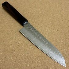 Japanese Kitchen Santoku Knife 180mm Hammer Forged Damascus 45 Layer From JAPAN
