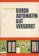 Seeger Sittig Durch Automaten gut versorgt Fachbuch DDR 1965 Automat