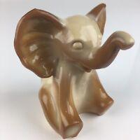 Fenton Glass Elephant Chocolate Slag Glass Sitting Elephant Figurine Animal