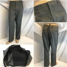 Bespoke Dress Pants 38x30 Gray 100% Wool Flat Front NWOT YGI E8-682