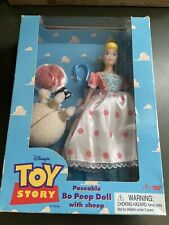 "Disney Original Toy Story 11"" Poseable Bo Peep Doll with Sheep by Thinkway Toys"