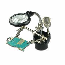 Third Hand Soldering Stand Magnifier 3rd Helping Iron Magnifying Led Tool Clip