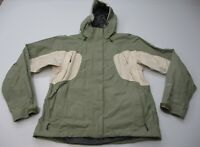 THE NORTH FACE Womens Size M HYVENT Waterproof Sage Green Hooded Snow Ski Jacket