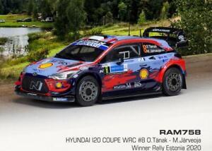 Hyundai I20 Coupe Wrc #8 Rally Estonia 2020 O.Tanak M.Jarveoja Ixo 1:43 RAM758