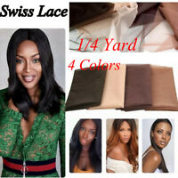 Swiss Lace Wig Making 1/4 1/2 Yard Lace Front Hair Net Toupee Front Closure Net;