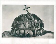 Crown of Saint Stephen 1800s Original News Service Photo